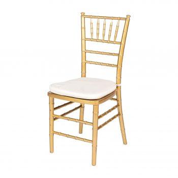 inchiriere scaun Chiavari lemn auriu