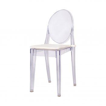 Inchiriere scaun Ghost transparent