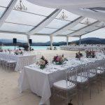 cort nunta transparent de inchiriat