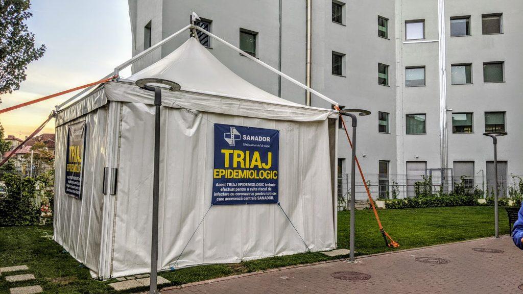 inchiriere cort triaj epidemiologic