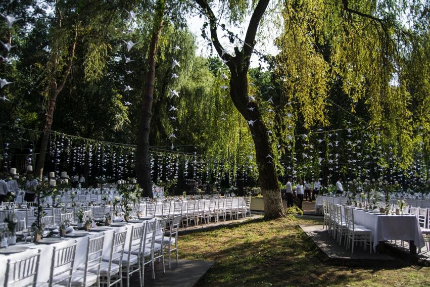mobilier nunta in gradina