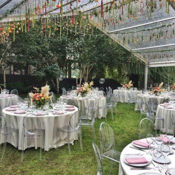inchiriere cort transparent pentru nunta in gradina
