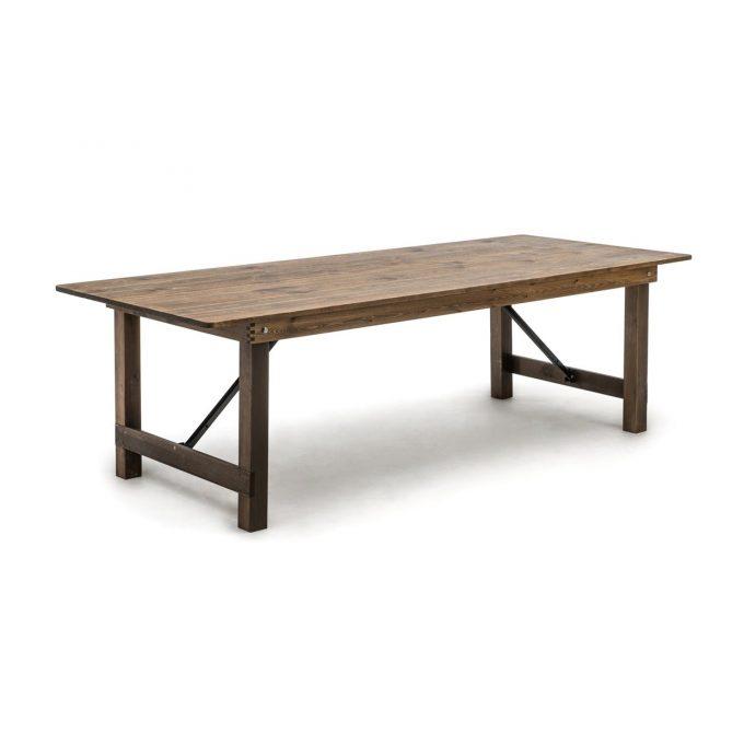 Masa dreptunghiulara de lemn masiv